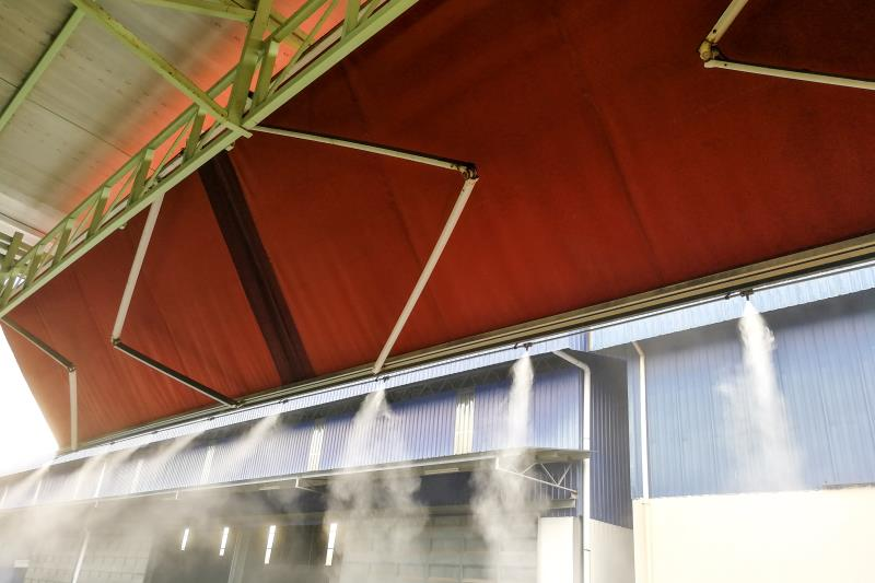 What is the workshop spray dust removal system